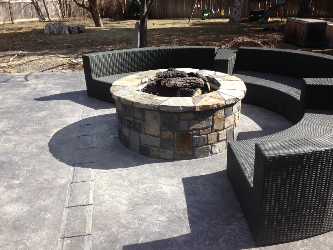stone patio firepit