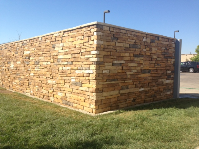 commercial stone wall